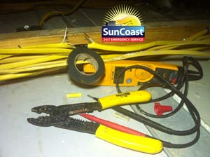 Taped Wires - Suncoast Electric and Air